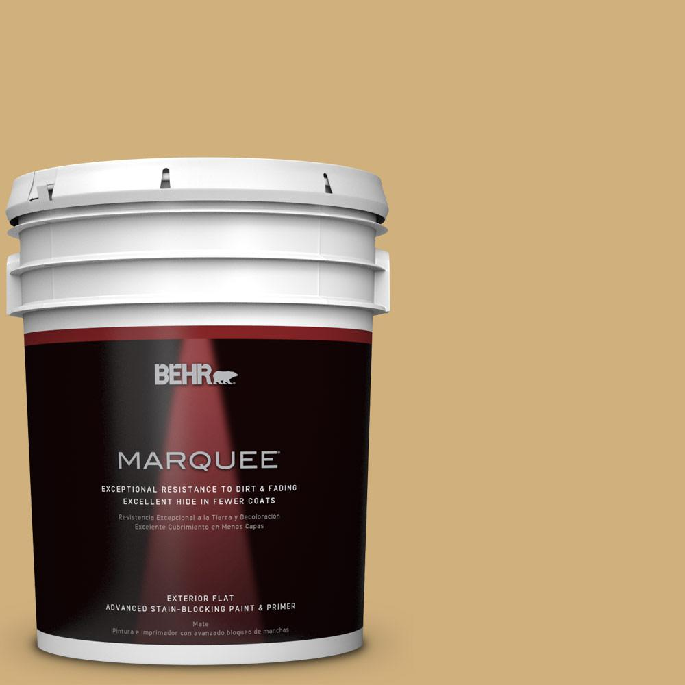 BEHR MARQUEE 5-gal. #PPU6-15 Romanesque Gold Flat Exterior Paint