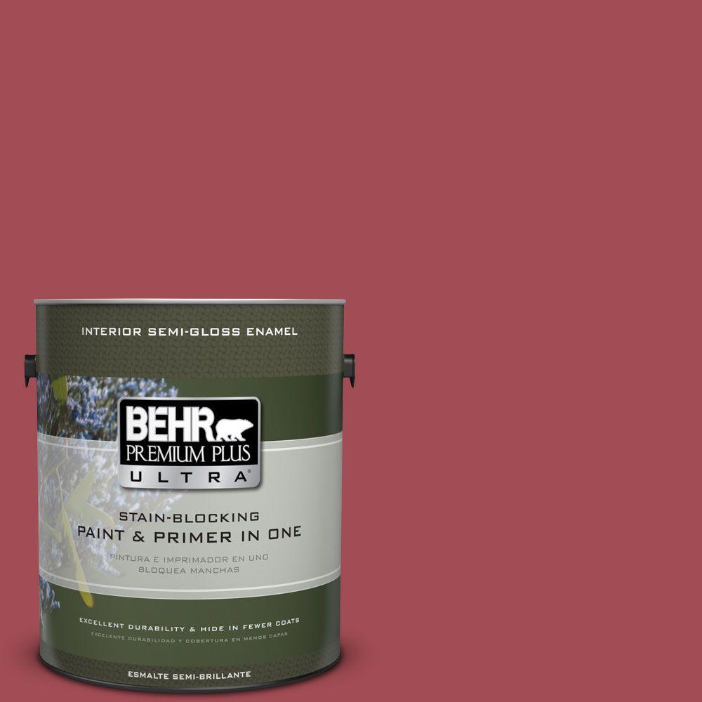 1 gal. #HDC-FL15-02 Cranberry Jam Semi-Gloss Enamel Interior Paint