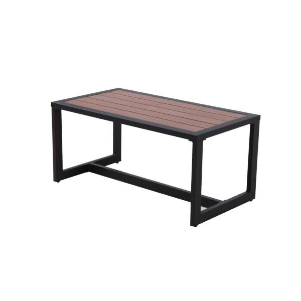 West Park Black Aluminum Outdoor Coffee Table