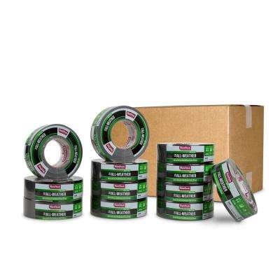 1.89 in. x 60 yd. 398 All-Weather HVAC Duct Tape in Black Pro Pack (12-Pack)