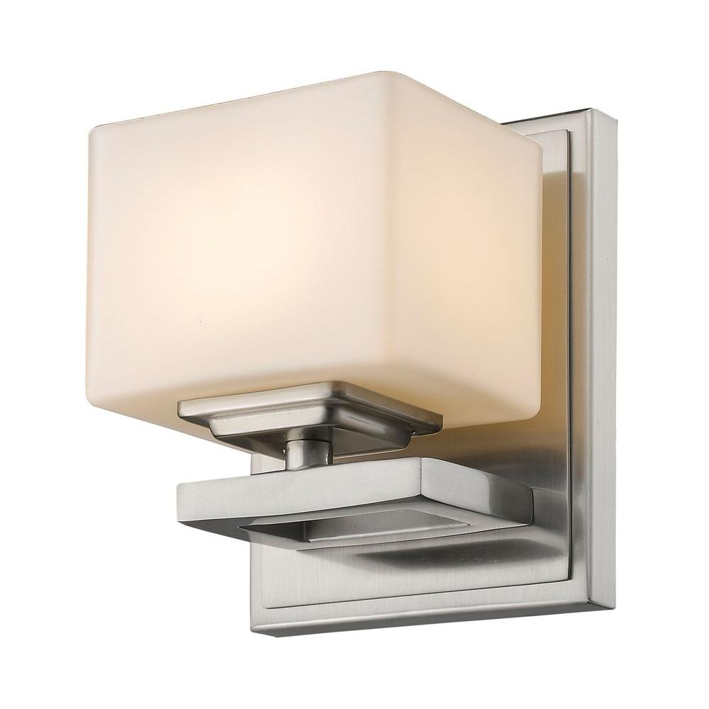 Zemka 1-Light Brushed Nickel Sconce