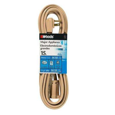 15 ft. Air Conditioner Appliance Cord, Beige