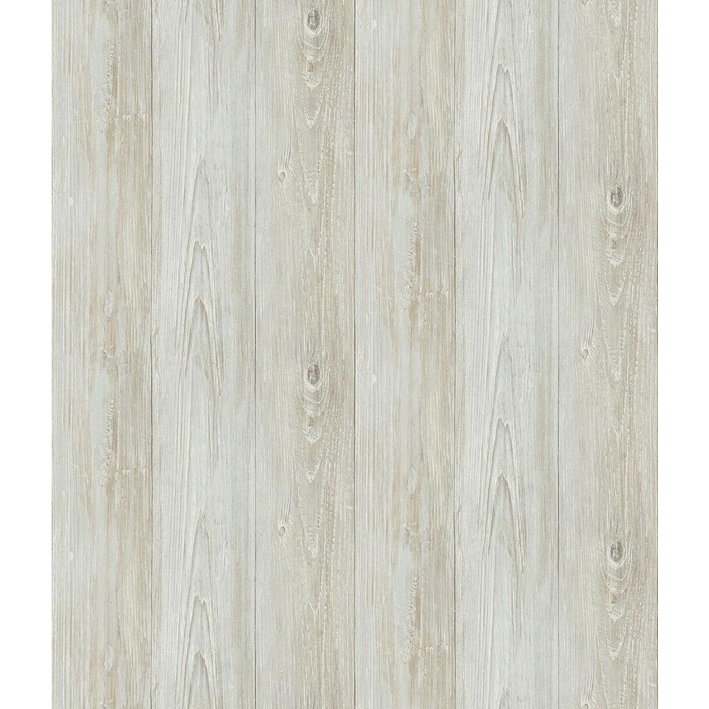 Chesapeake Mapleton Light Grey Wood Wallpaper