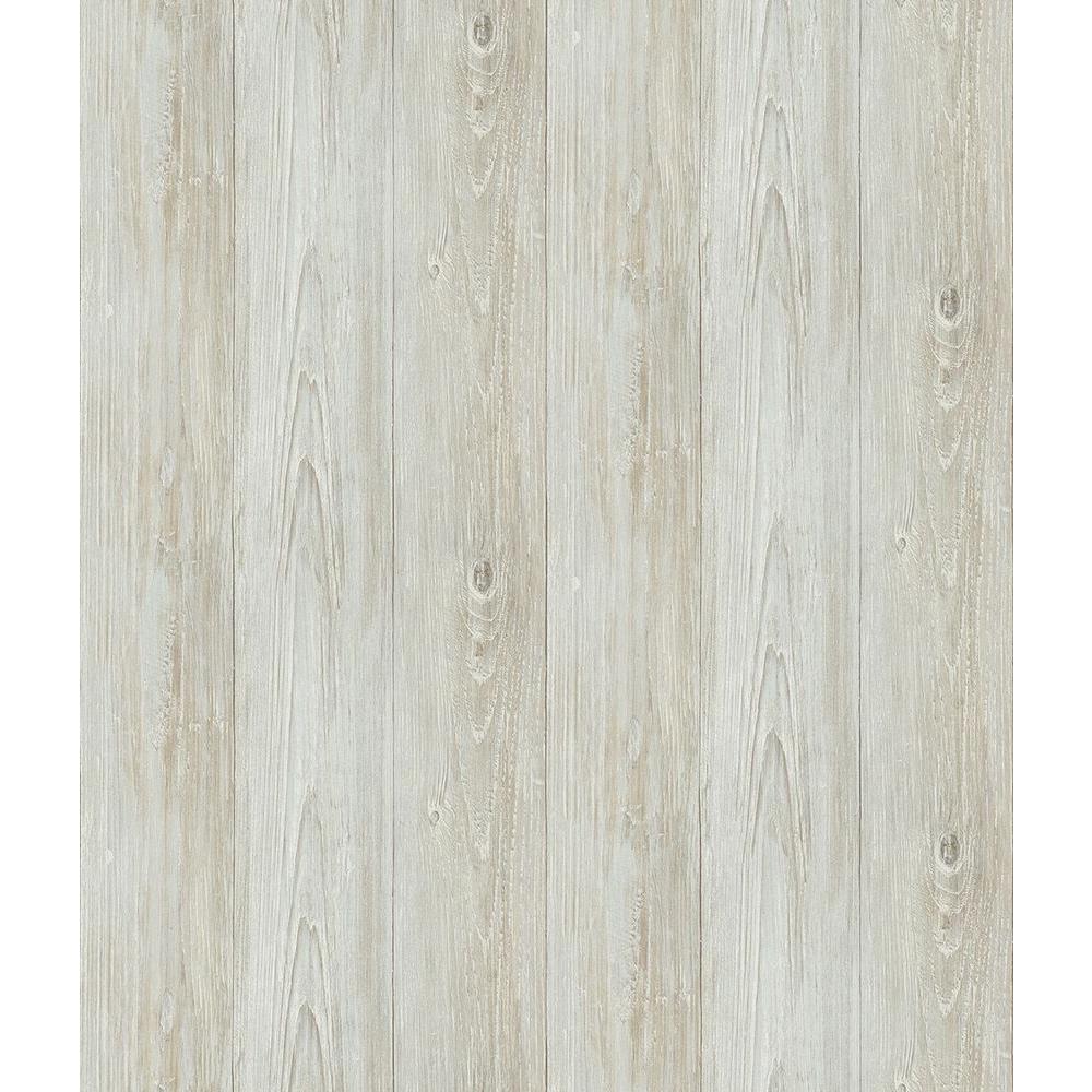 Chesapeake Mapleton Light Grey Wood Wallpaper Sample Ccb64227sam