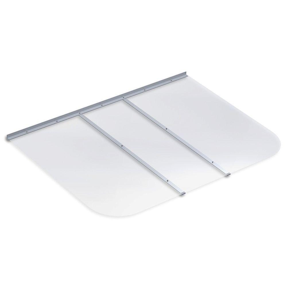 57 in. x 42 in. Rectangular Clear Polycarbonate Window Well Cover