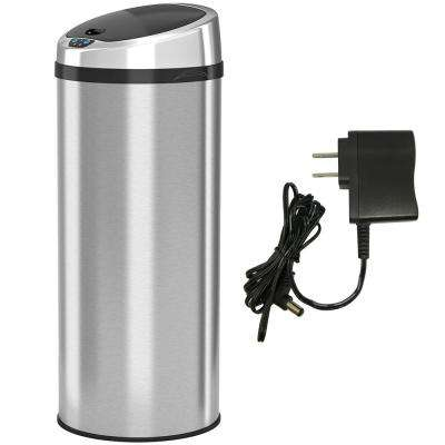 13 Gal. Automatic Infrared Sensor Stainless Steel Trash Can with Round Lid