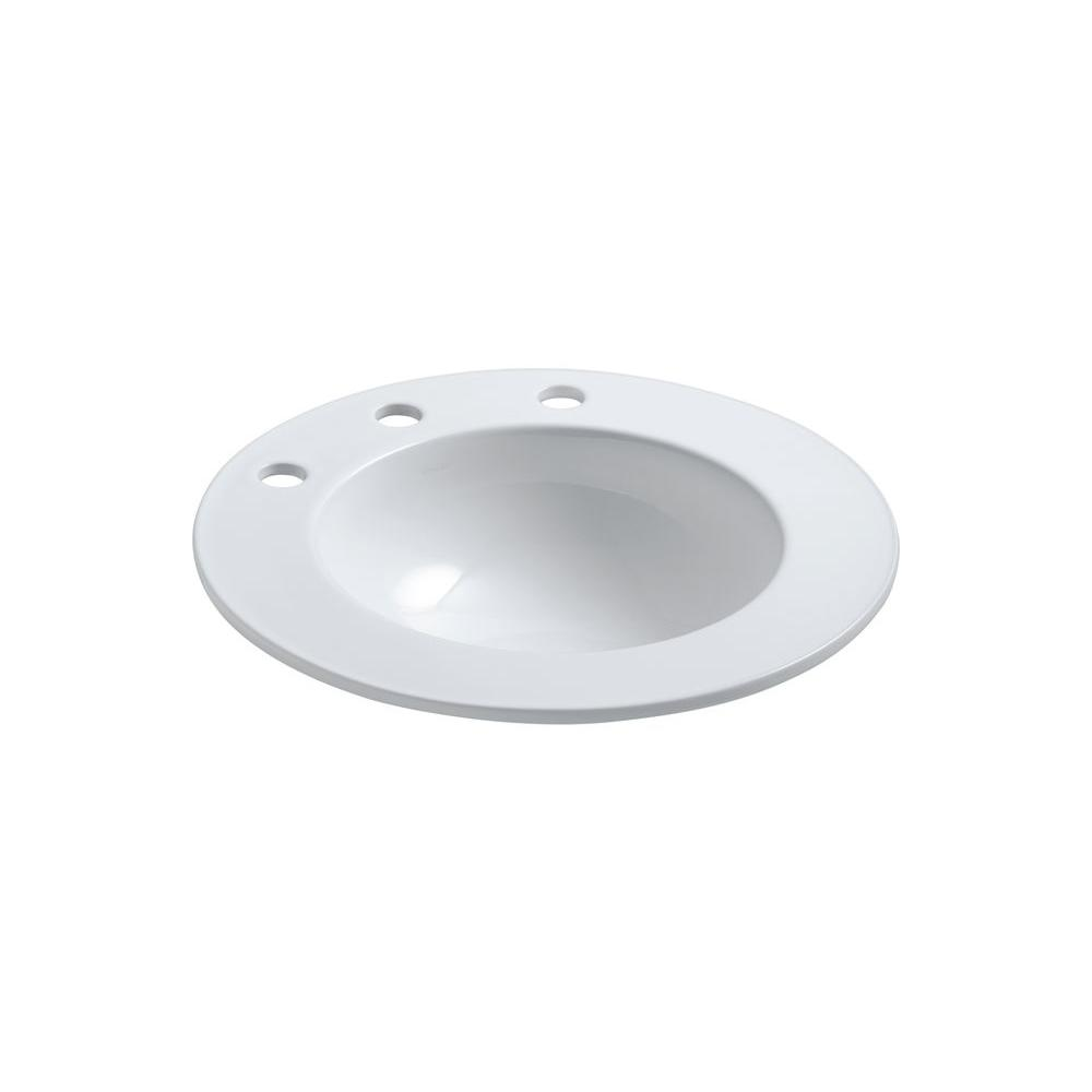 KOHLER Camber Drop-in Bathroom Sink in Earthen White-DISCONTINUED