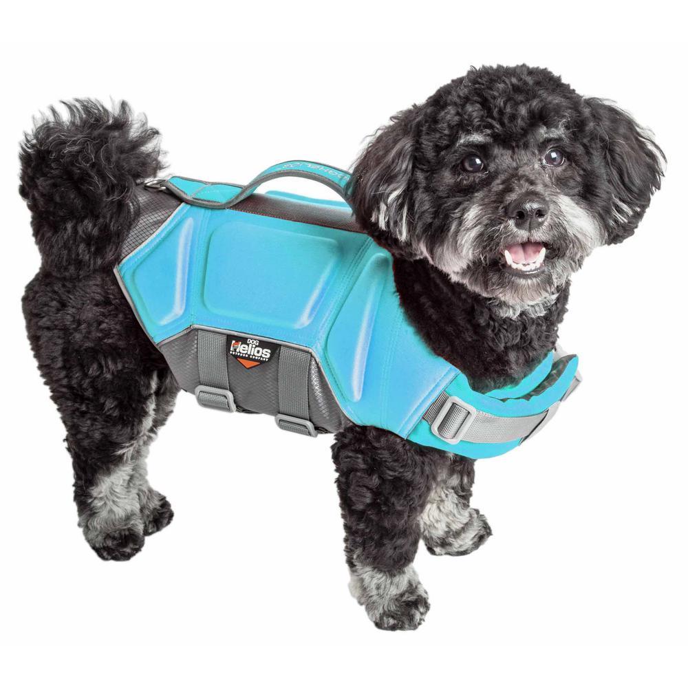 Small Blue Tidal Guard Reflective Pet Dog Life Jacket Vest