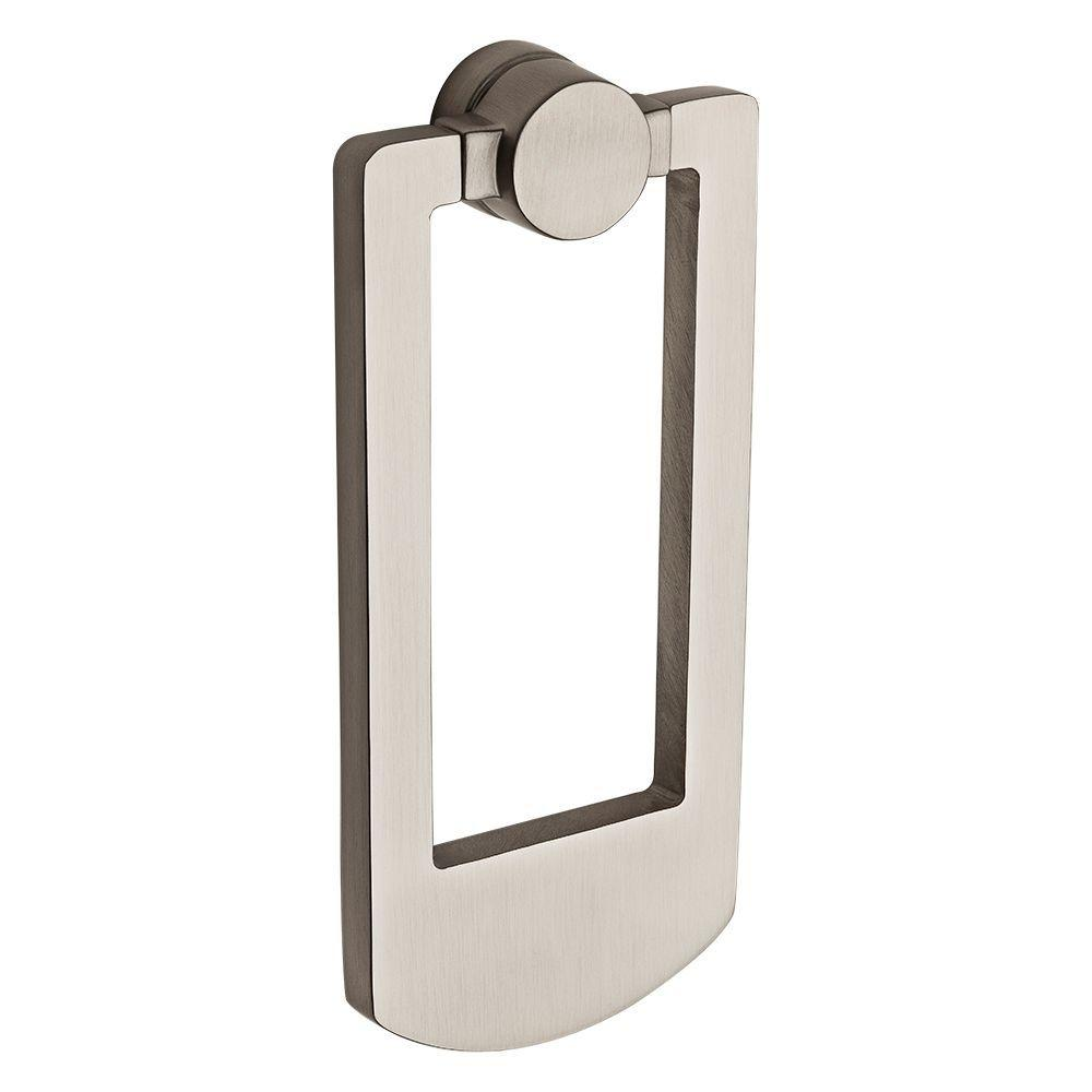 Baldwin satin nickel contemporary door knocker 9br7002 002 the home depot - Nickel door knocker ...