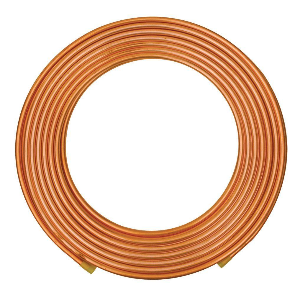 Everbilt 3 8 In Od X 20 Ft Copper Soft Refrigeration Coil Pipe D Home Depot Furnace Ac Wiring