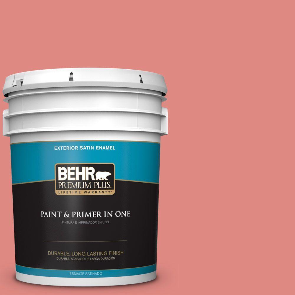 5 gal. #HDC-SP16-12 Begonia Satin Enamel Exterior Paint