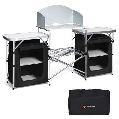 Folding Portable Aluminum Camping Grill Table