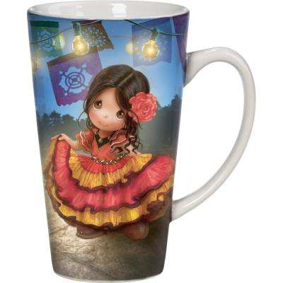 Te Quiero Mucho Spanish Girl 16 oz. Multi Colored Porcelain Mug