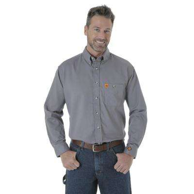 Men's Size Extra-Large Grey Work Shirt