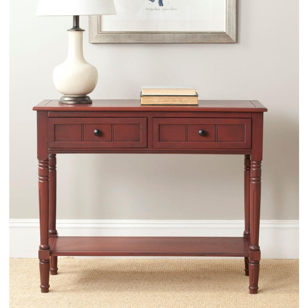 Safavieh samantha red storage console table amh5710e the home depot safavieh samantha red storage console table geotapseo Gallery