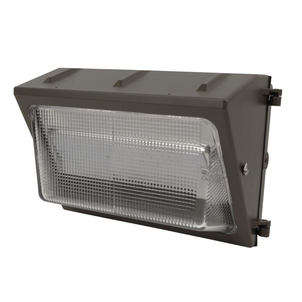 50-Watt 15 in. Bronze Outdoor Integrated LED Security Wall Pack Light
