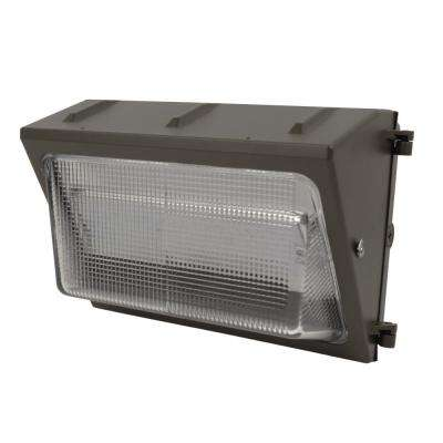 50-Watt 15 in. Bronze Outdoor Integrated LED Security Wall Pack Light (2-Pack)