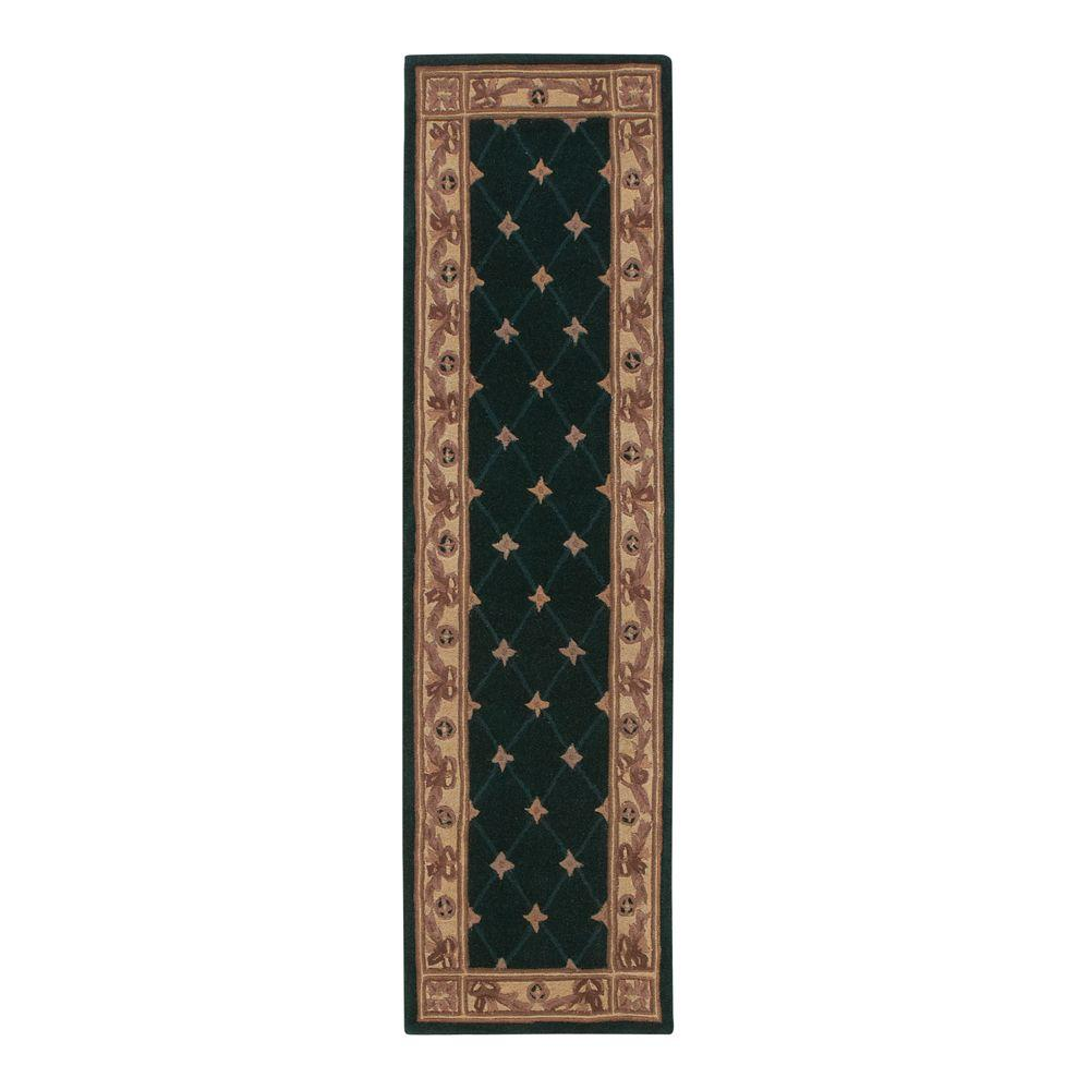 Home Decorators Collection Windsor Hunter Green 2 Ft X 7 Ft 6 In Rug Runner 3833360620 The