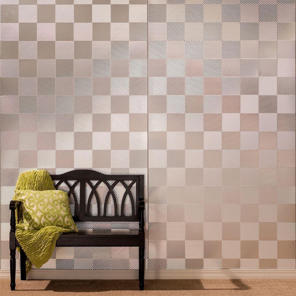 Quattro 96 in. x 48 in. Decorative Wall Panel in Black