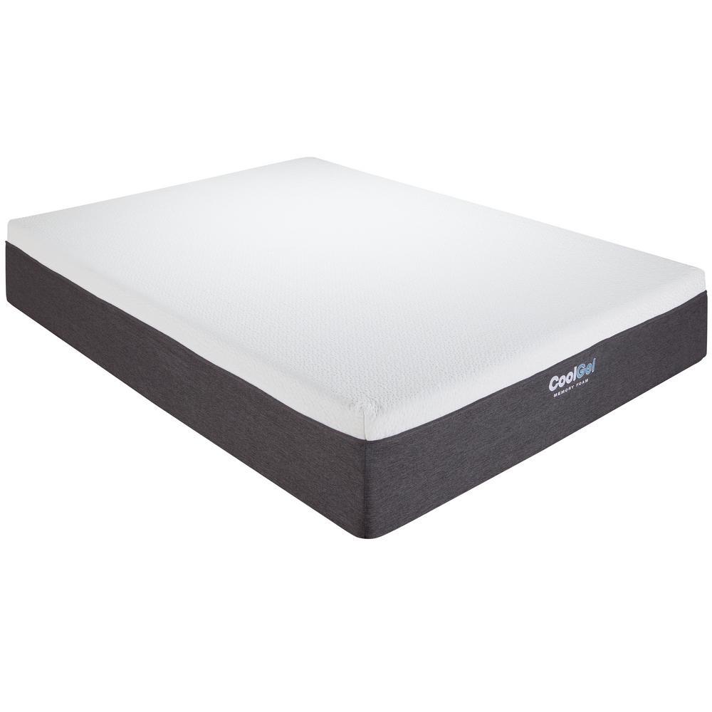 null cool gel kingsize 12 in gel memory foam mattress