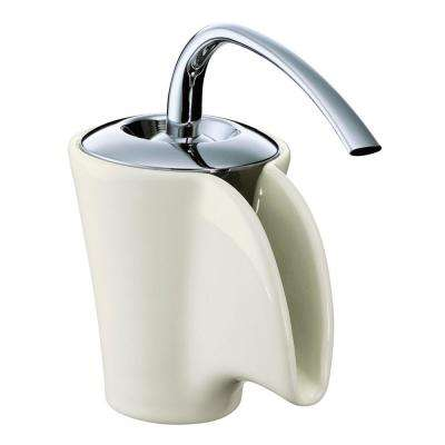 Vas Single Hole Single-Handle Low-Arc Bathroom Faucet in Biscuit