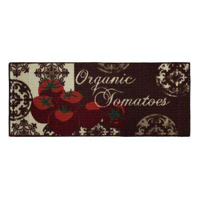 Tomatoes 20 in. x 48 in. Textured Accent Kitchen Runner