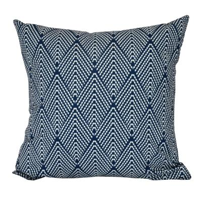 Lifeflor Navy Blue Geometric 16 in. x 16 in. Throw Pillow