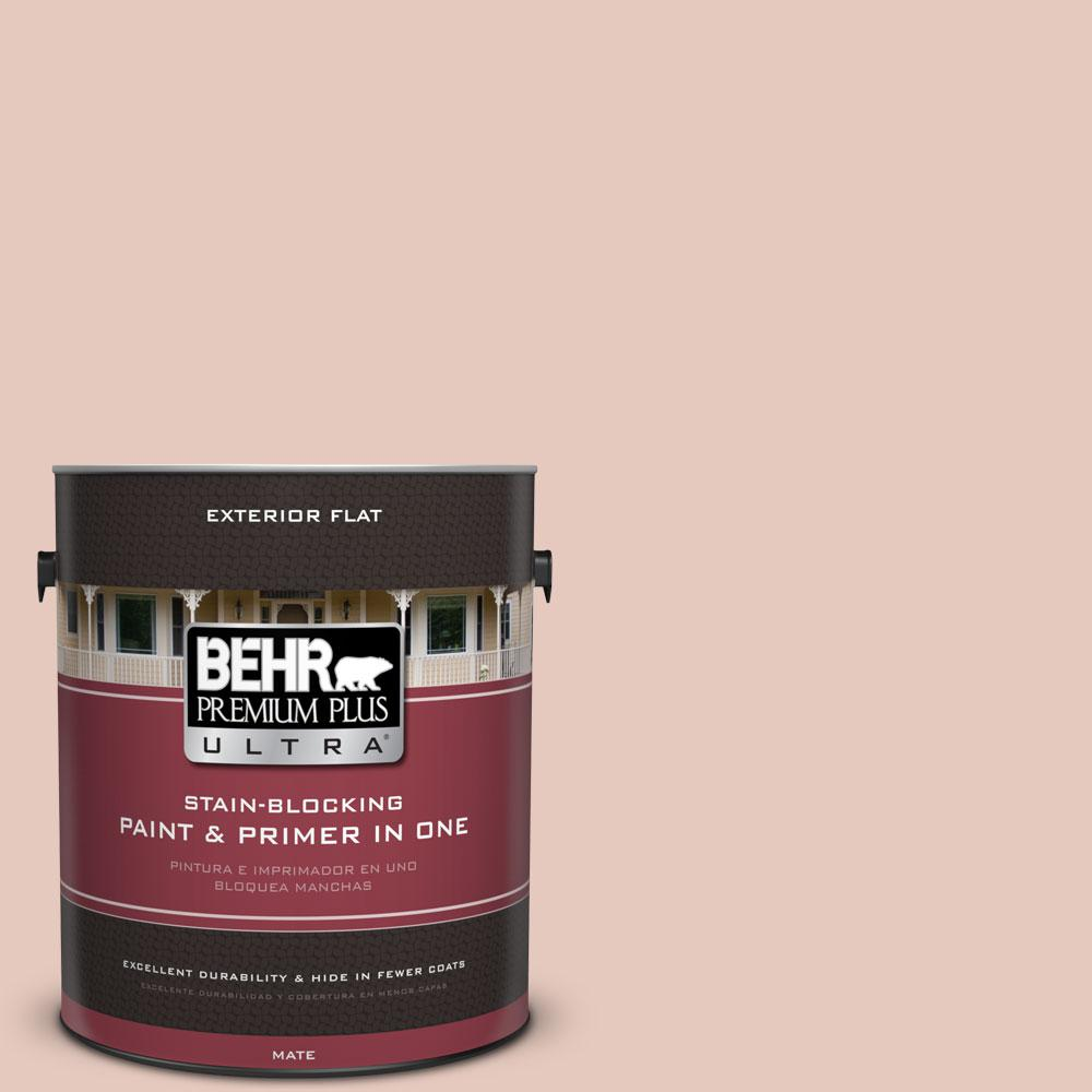 1-gal. #210E-3 Almond Willow Flat Exterior Paint