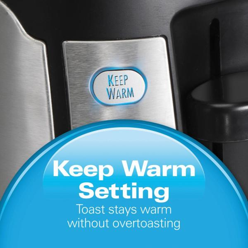 24810 Hamilton Beach 4-Slice Long Slot Keep Warm Toaster