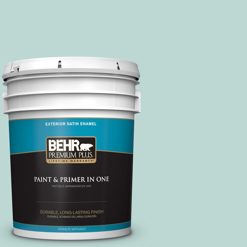 5-gal. #M440-2 Serene Breeze Satin Enamel Exterior Paint
