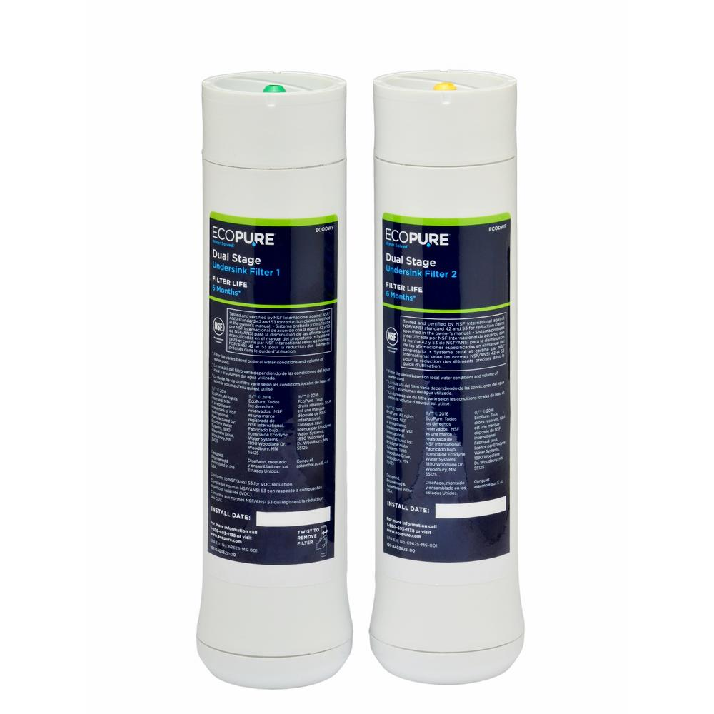 EcoPure Dual Stage Water Replacement Filter (2-Pack) (Fits ECOP20 System)