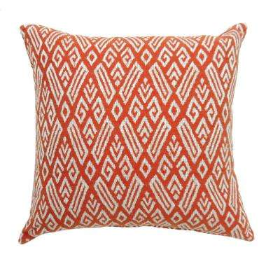 Cici 18 in. Red Contemporary Standards Throw Pillow (Set of 2)