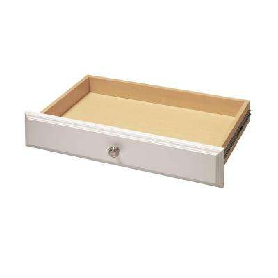 24 in. x 4 in. Classic White Deluxe Wood Drawer Kit