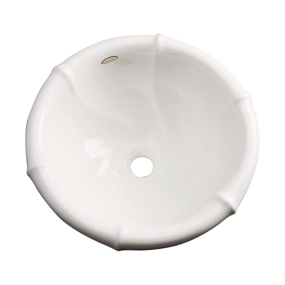Thermocast Waverly Drop-in Bathroom Sink in Biscuit