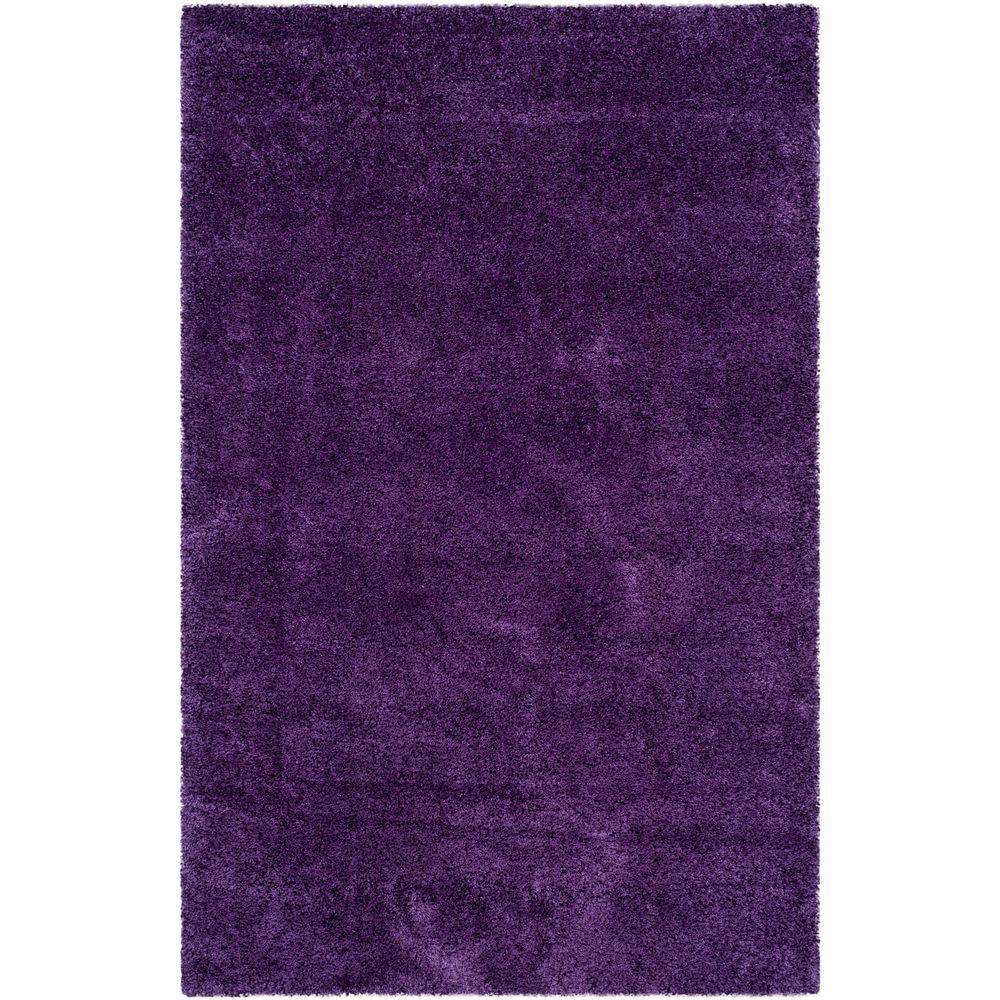 Milan Shag Purple 8 ft. x 10 ft. Area Rug