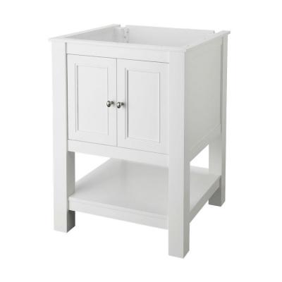 Gazette 24 in. W x 21-3/4 in. D Bath Vanity Cabinet Only in White