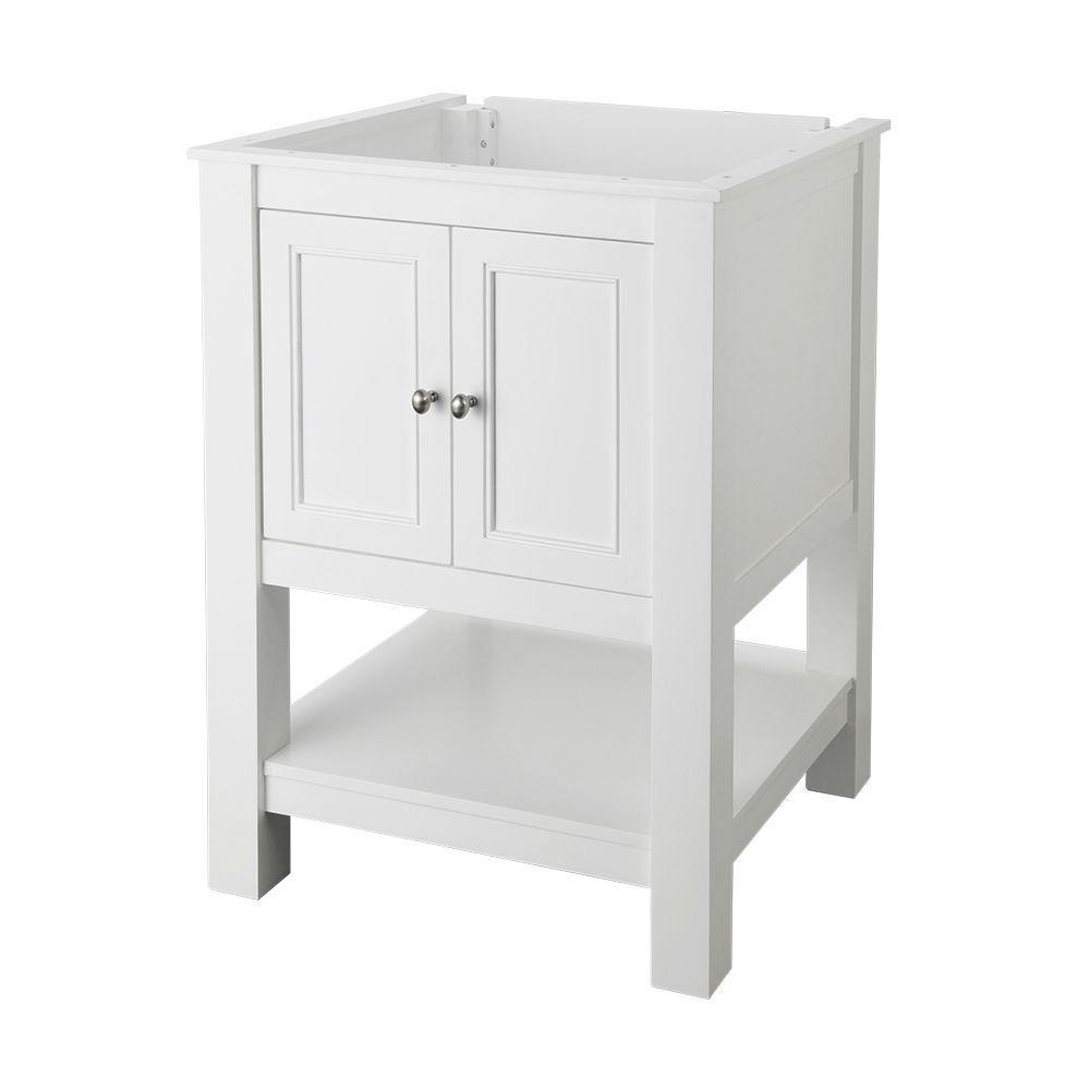 Gazette 24 in. W x 21-3/4 in. D Bath Vanity Cabinet Only in White