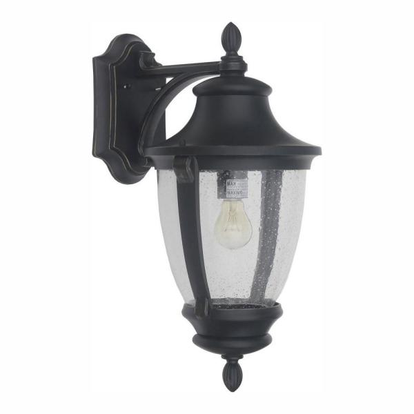 Wilkerson 1-Light Black Outdoor Wall Lantern Sconce
