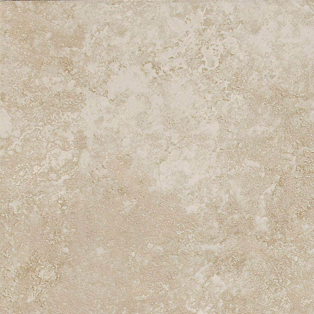 Sandalo Serene White 6 in. x 6 in. Glazed Ceramic Wall