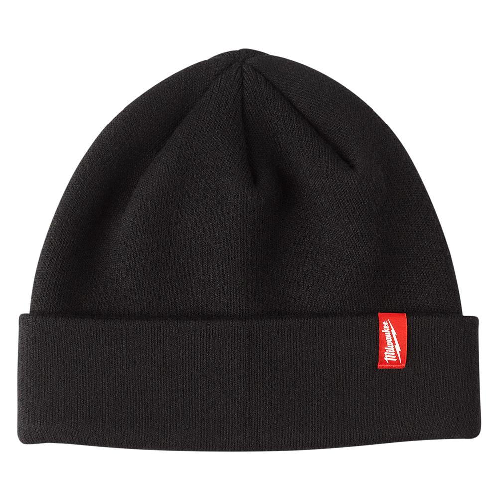 9db30b7b1376d Milwaukee Men s Black Cuffed Knit Hat-503B - The Home Depot