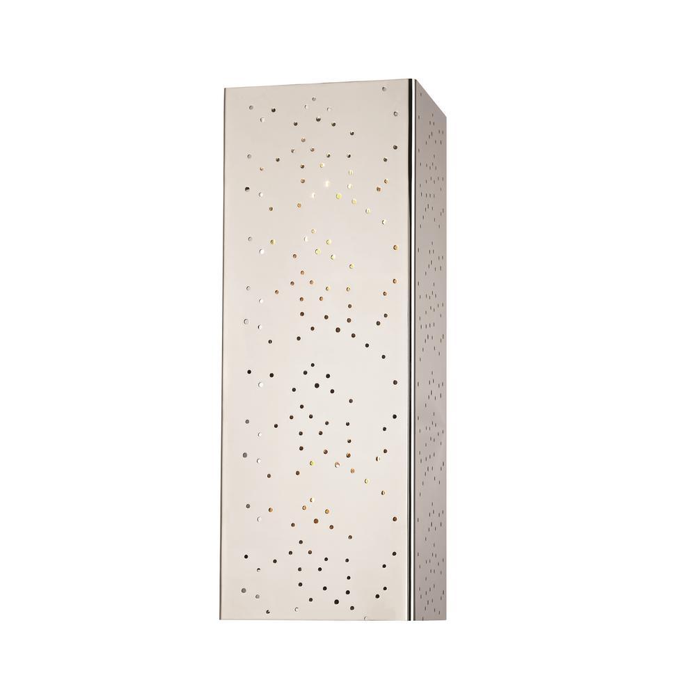 Aiko 2-Light Polished Nickel Wall Sconce