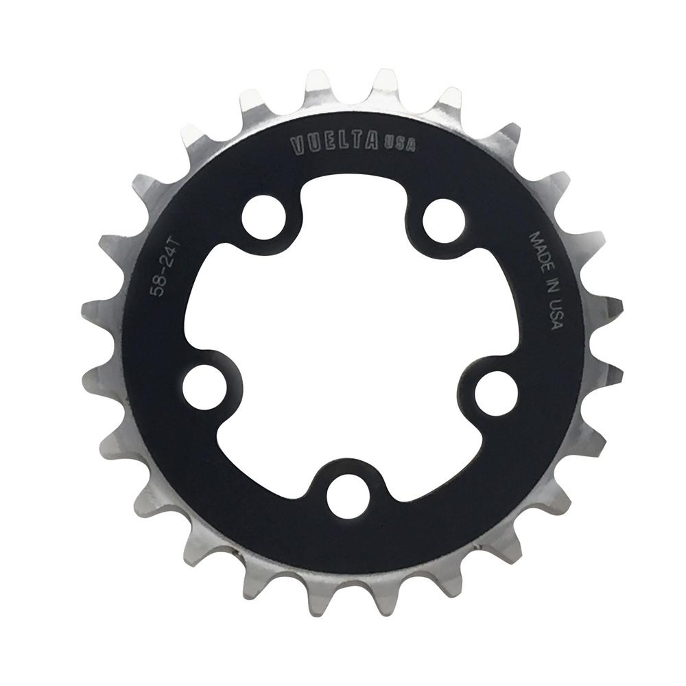 SE Flat 58 mm/BCD Black 20T Chainring