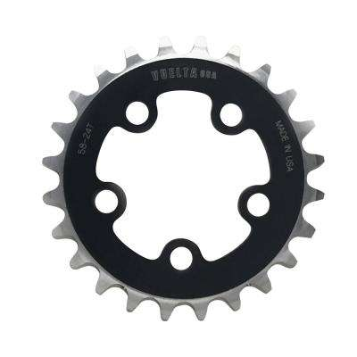 SE Flat 58 mm/BCD 24T Chainring in Black