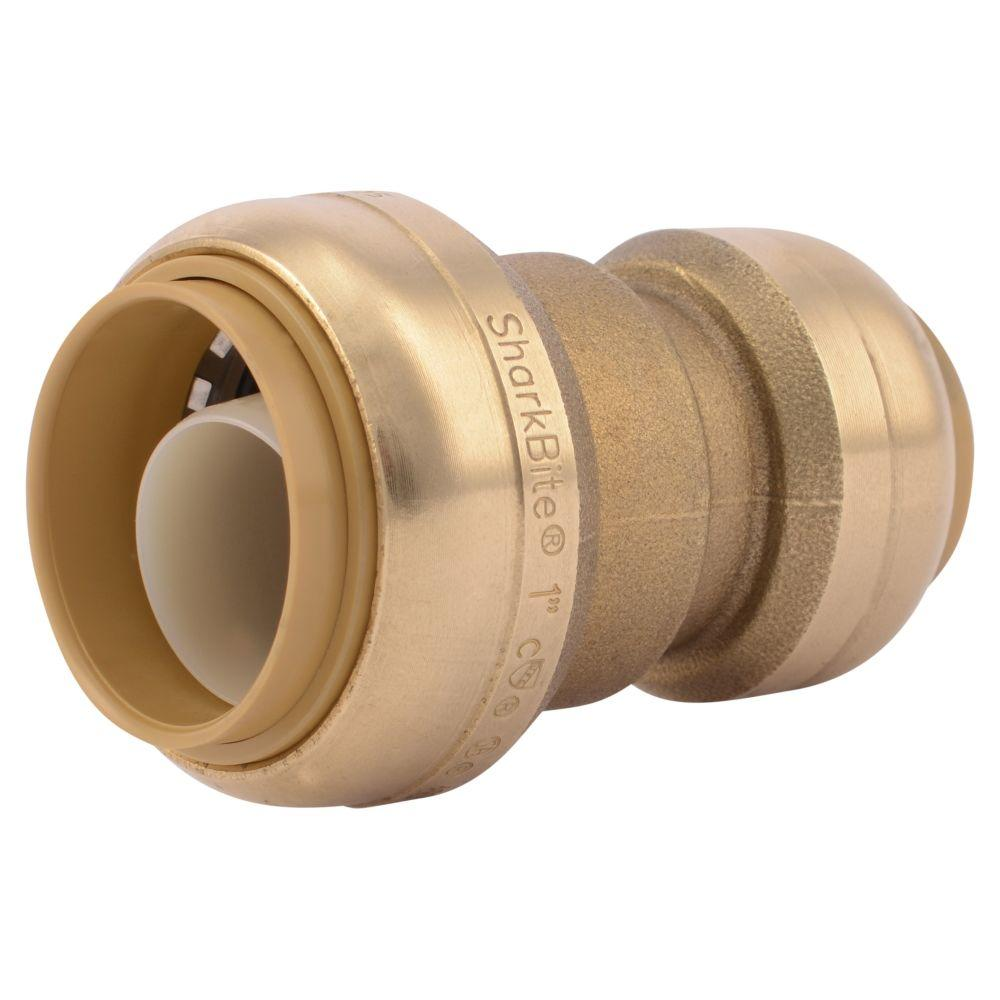 SharkBite 1 in. x 3/4 in. Push-to-Connect Brass Reducing Coupling Fitting