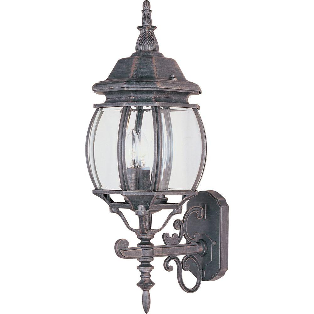 Crown Hill 3-Light Rust Patina Outdoor Wall Mount