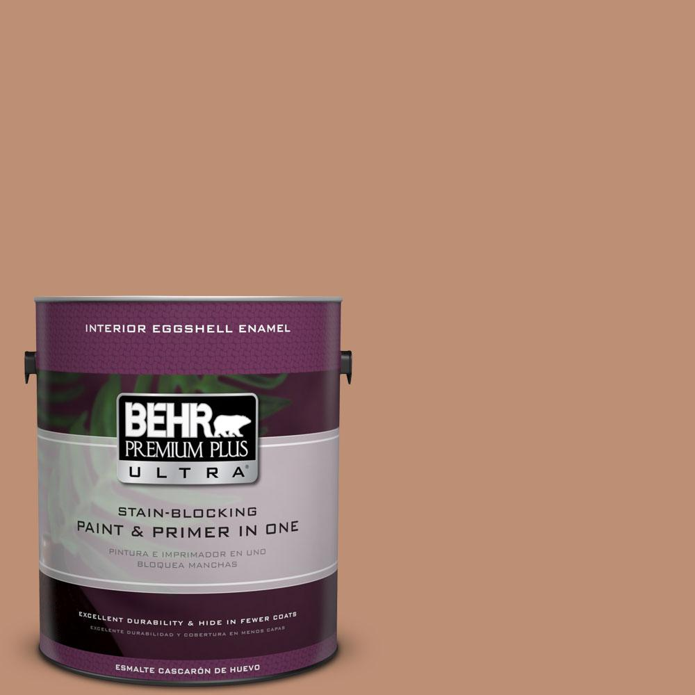BEHR Premium Plus Ultra 1 gal. #ECC-50-3 Brick Path Eggshell Enamel Interior Paint and Primer in One