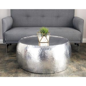 Cool Silver Contemporary Hammered Aluminum Coffee Table Gamerscity Chair Design For Home Gamerscityorg