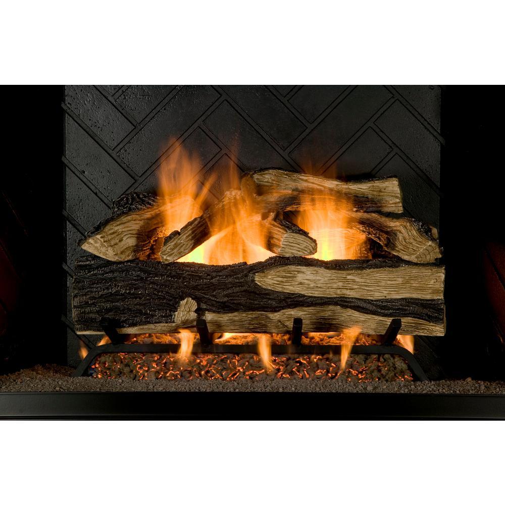Emberglow Burnt River Oak 24 in  Vented Gas Log Set NG/LP