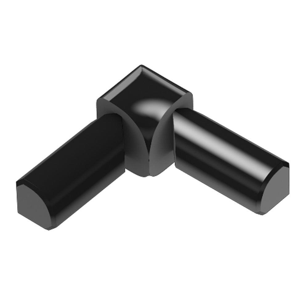 Rondec Bright Black Anodized Aluminum 3/8 in. x 1 in. Metal