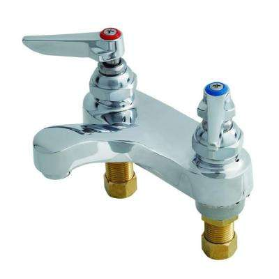 4 in. Centerset 2-Wrist Handle Medical and Lavatory Faucet in Polished Chrome